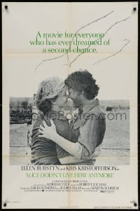 3t023 ALICE DOESN'T LIVE HERE ANYMORE 1sh 1975 Martin Scorsese, Ellen Burstyn, Kris Kristofferson