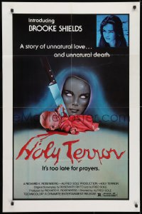 3t025 ALICE SWEET ALICE 1sh R1981 first Brooke Shields, disturbing knife-in-doll photo, Holy Terror!