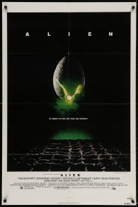3t026 ALIEN NSS style 1sh 1979 Ridley Scott outer space sci-fi monster classic, cool egg image!