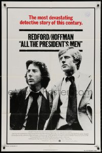 3t031 ALL THE PRESIDENT'S MEN int'l 1sh 1976 Hoffman & Robert Redford as Woodward & Bernstein!