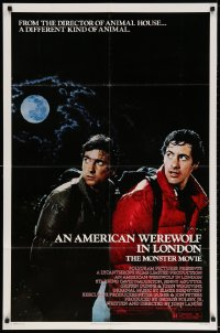 3t037 AMERICAN WEREWOLF IN LONDON 1sh 1981 David Naughton, Agutter, Dunne, John Landis!