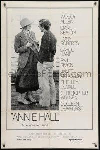 3t043 ANNIE HALL 1sh 1977 full-length Woody Allen & Diane Keaton in a nervous romance!