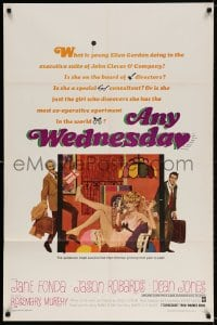 3t045 ANY WEDNESDAY 1sh 1966 sexy Jane Fonda, Jason Robards & Dean Jones by Robert McGinnis!