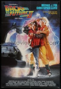 3t060 BACK TO THE FUTURE II 1sh 1989 Michael J. Fox as Marty, synchronize your watches!