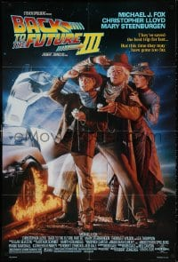 3t061 BACK TO THE FUTURE III DS 1sh 1990 Michael J. Fox, Chris Lloyd, Drew Struzan art!