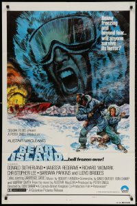 3t071 BEAR ISLAND 1sh 1980 Donald Sutherland & Vanessa Redgrave, Alistair MacLean!