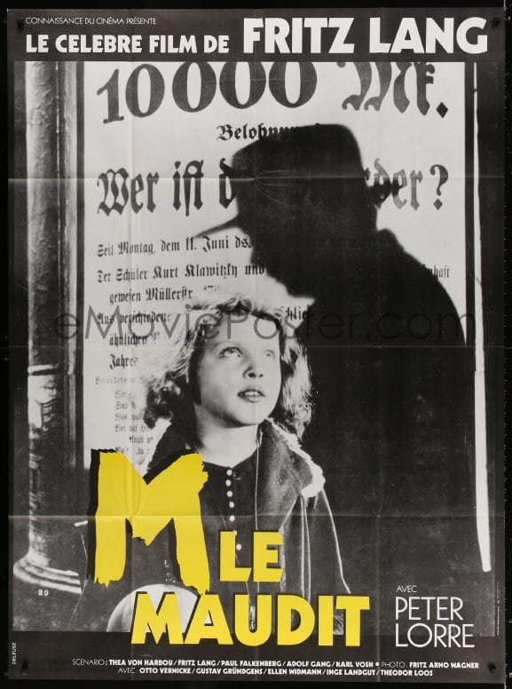 eMoviePoster com: 3w775 M French 1p R1980s Fritz Lang, Peter Lorre