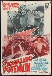 3y002 BATTLESHIP POTEMKIN Argentinean R1960s completely different art from Eisenstein's classic!