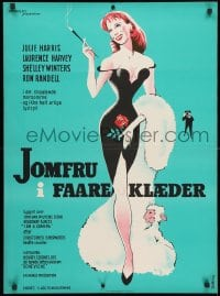 3y040 I AM A CAMERA Danish 1955 different Stilling artwork of sexy glamorous Julie Harris!