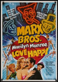 3y075 LOVE HAPPY German 1981 different Chantrell art of Marx Brothers & sexy Marilyn Monroe!