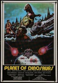 3y007 PLANET OF DINOSAURS Lebanese 1978 X-Wings & Millennium Falcon art from Star Wars by Aller!
