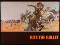 3z049 BITE THE BULLET teaser 30x40 1975 art of Gene Hackman, Candice Bergen & James Coburn!