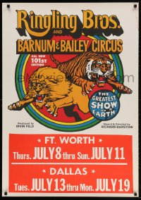 3z061 RINGLING BROS & BARNUM & BAILEY CIRCUS 28x40 circus poster 1976 cool big top art!
