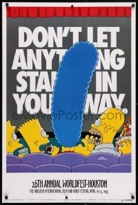 3z062 26TH ANNUAL WORLDFEST-HOUSTON 24x36 film festival poster 1993 Simpsons by Groening!