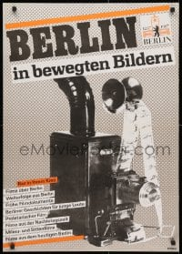 3z063 BERLIN IN BEWEGTEN BILDERN 23x32 East German film festival poster 1987 film projector!