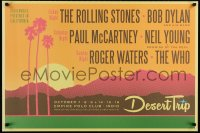 3z070 DESERT TRIP 24x36 music poster 2016 Rolling Stones, Dylan, McCartney, Young, Waters, The Who!