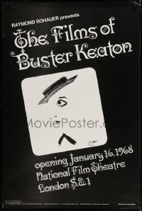 3z065 FILMS OF BUSTER KEATON 30x45 film festival poster 1968 Etaix and Hogarth artwork!