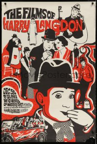 3z066 FILMS OF HARRY LANGDON 30x45 film festival poster 1967 Harry Langdon from several scenes!