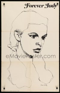 3z072 JUDY GARLAND 22x34 music poster 1969 Stan Wilde art from Forever Judy album!