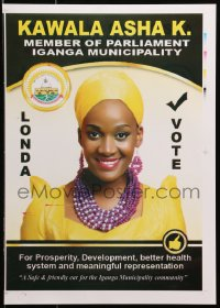 3z076 KAWALA ASHA K. printer's test 13x18 Ugandan political campaign 2016 cool
