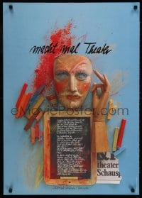 3z162 MACHT MAL THEATER 24x33 German stage poster 1981 artwork by Holger Matthies!