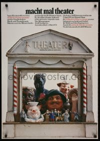 3z159 MACHT MAL THEATER 24x33 German stage poster 1978 wild different design by Holger Matthies!