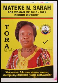 3z077 MATEKE N. SARAH printer's test 13x18 Ugandan political campaign 2016 cool