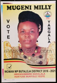 3z078 MUGENI MILLY printer's test 12x18 Ugandan political campaign 2016 cool