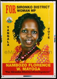 3z079 NAMBOZO FLORENCE W. MAYOGA printer's test 13x18 Ugandan political campaign 2016 cool