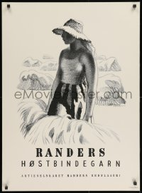 3z091 RANDERS REB 25x34 Danish advertising poster 1950s artwork by Aage Sikker-Hansen!
