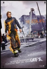 3z133 RESCUE ME group of 2 tv posters 2000s great images od Denis Leary on fire and more!