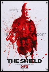 3z134 SHIELD group of 3 tv posters 2000s cool different images of detective Michael Chiklis!