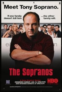3z132 SOPRANOS tv poster 1999 James Gandolfini as Tony Soprano, a new original series!