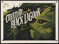 3z010 TOM WHALEN'S UNIVERSAL MONSTERS #164/230 18x24 art print 2013 Creature from the Black Lagoon!