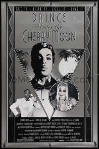 3z964 UNDER THE CHERRY MOON 1sh 1986 cool art deco style artwork of star/director Prince!