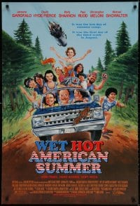 3z975 WET HOT AMERICAN SUMMER 1sh 2001 wacky art of Janeane Garofalo, David Hyde Pierce, Shannon!