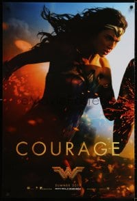 3z985 WONDER WOMAN teaser DS 1sh 2017 sexiest Gal Gadot in title role/Diana Prince, Courage!