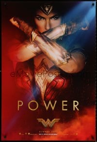 3z986 WONDER WOMAN teaser DS 1sh 2017 sexiest Gal Gadot in title role/Diana Prince, Power!