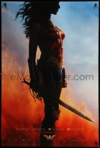 3z987 WONDER WOMAN teaser DS 1sh 2017 sexiest Gal Gadot in title role/Diana Prince, profile image!