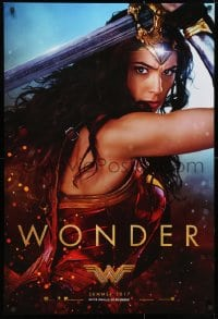 3z988 WONDER WOMAN teaser DS 1sh 2017 sexiest Gal Gadot in title role/Diana Prince, Wonder!