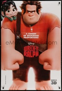 3z993 WRECK-IT RALPH 3D advance DS 1sh 2012 cool Disney animated video game movie, great image!
