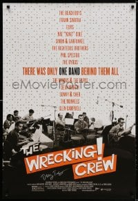 3z992 WRECKING CREW signed 1sh 2008 by Denny Tedesco, cool white title design and great image!