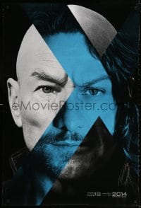 3z995 X-MEN: DAYS OF FUTURE PAST teaser DS 1sh 2014 combined faces of Stewart & McAvoy!