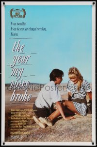 3z996 YEAR MY VOICE BROKE 1sh 1987 Noah Taylor, Loene Carmen, Australian coming of age movie!