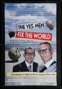 3z998 YES MEN FIX THE WORLD 1sh 2009 pranksters Andy Bichlbaum & Mike Bonanno!