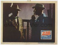 4a188 13 LEAD SOLDIERS LC #8 1948 moody close up of Tom Conway as detective Bulldog Drummond!