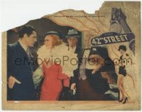 4a193 42nd STREET LC 1933 Ginger Rogers confronts Warner Baxter with her lapdog behind her!