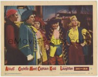 4a196 ABBOTT & COSTELLO MEET CAPTAIN KIDD LC #6 1953 pirates Bud & Lou, Charles Laughton on deck!