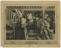 4a199 ADVENTURER LC 1920 Estelle Taylor avoids William Farnum sword-fighting with two guys!