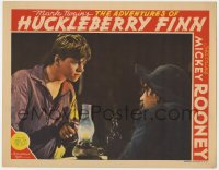 4a203 ADVENTURES OF HUCKLEBERRY FINN LC 1939 close up of Mickey Rooney holding corncob pipe!